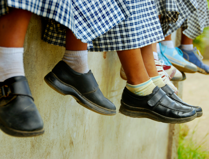 school uniform feet via istock feat