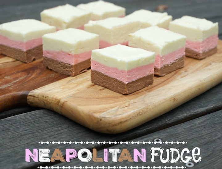 how to make neapolitan fudge
