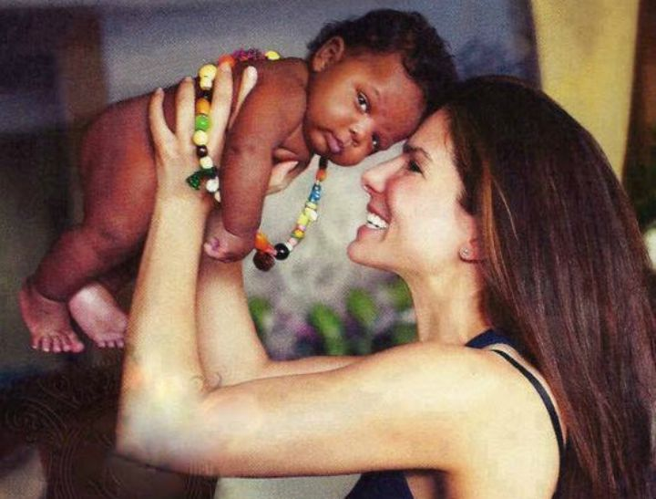 Sandra Bullock and son