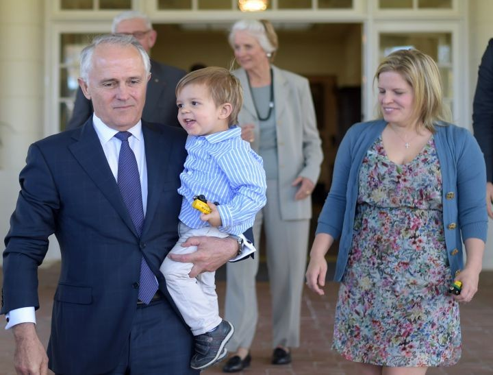 Turnbull and grandson