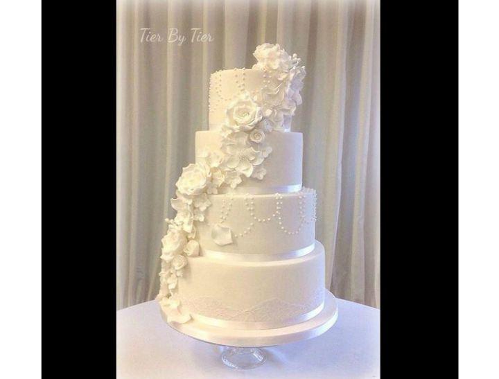 flower side of cake
