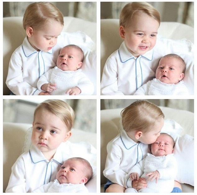 Gorgeous new photo of Prince George & Princess Charlotte.: www.themotherish.com/prince-george-princess-charlotte-photo