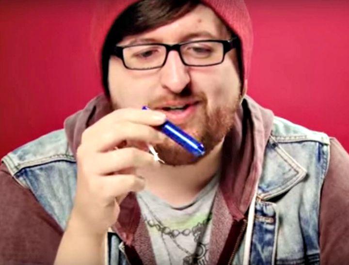 men explaining tampons