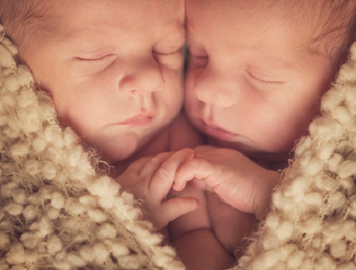 Tweens and newborn and shape of heart
