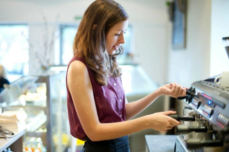 woman at barista machine_IV